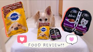 Pedigree vs Cesar Dog Food Review: Filet Mignon edition