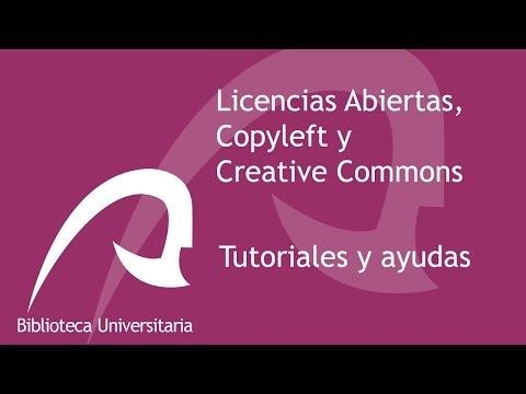 Licencias Abiertas, Copyleft y Creative Commons (2017)