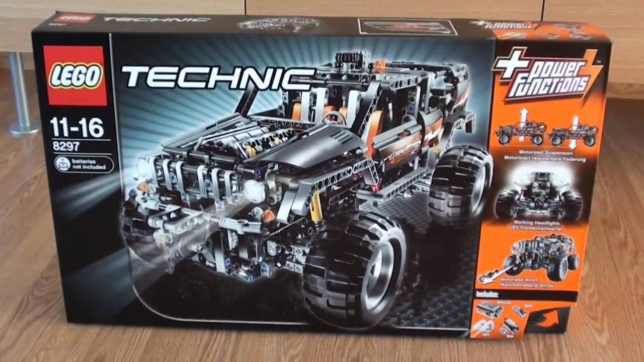 lego technic 8297 power functions jeep unboxing hd720. Black Bedroom Furniture Sets. Home Design Ideas