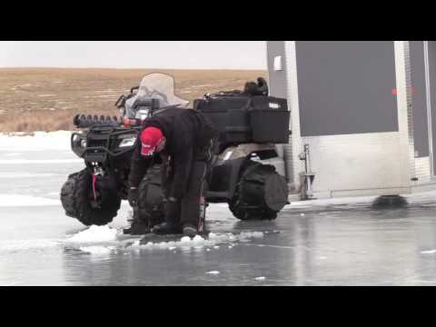 Honda Rubicon Ice-fishing Setup