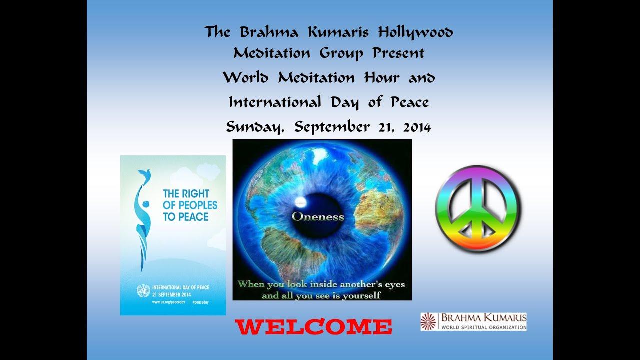 World Meditation Hour & International Day of Peace - YouTube