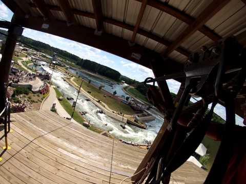 Mega Zipline At US National Whitewater Center - Great Ride!!