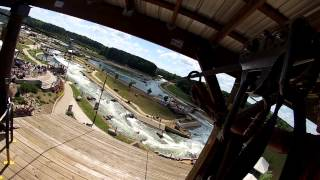 Mega Zipline at US National Whitewater Center - Great Ride!!