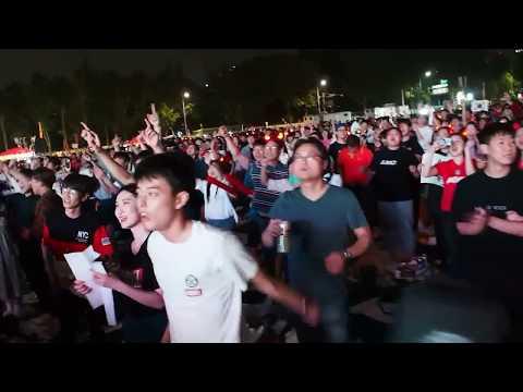 Korean Football Fans in Seoul (2018)