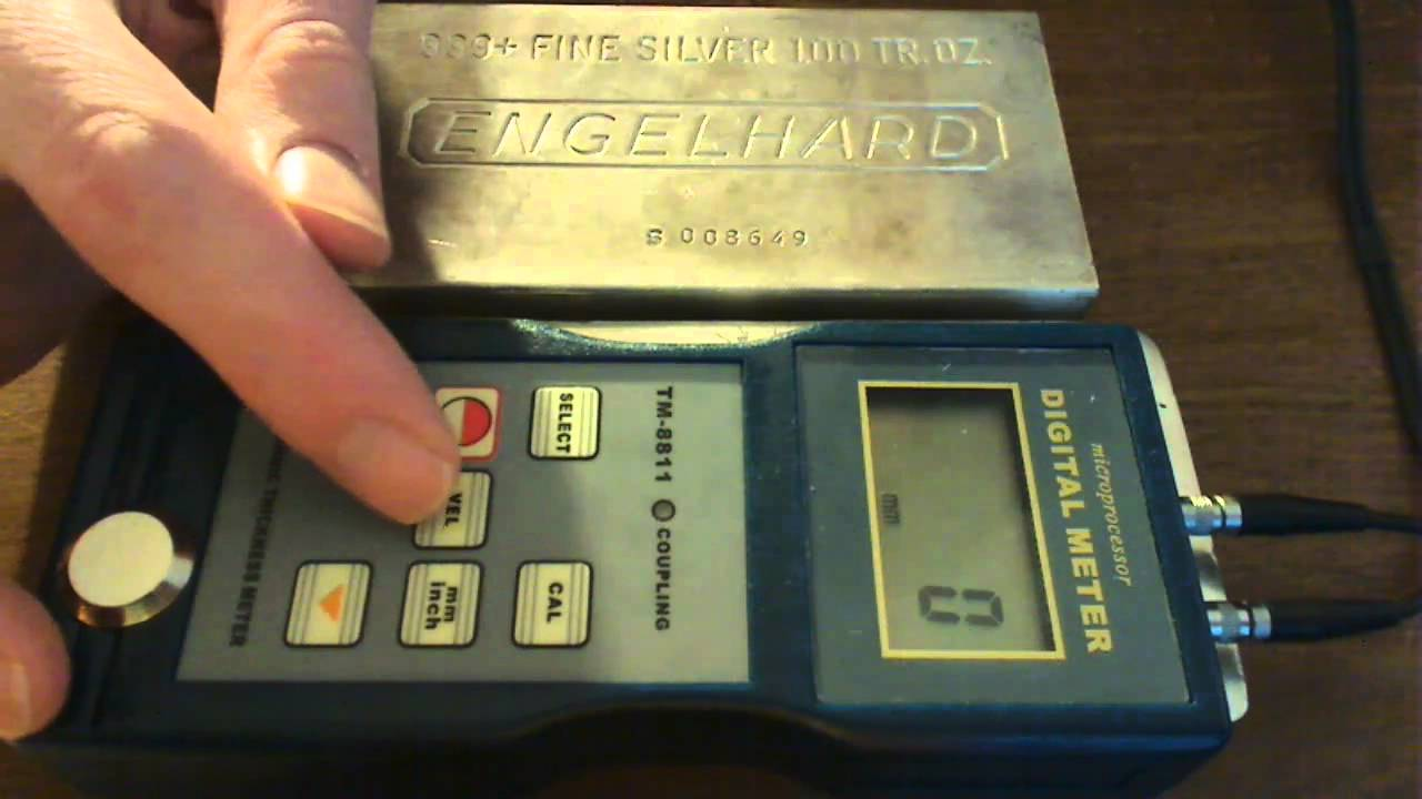 Using An Ultrasonic Thickness Gauge To Test A Real And