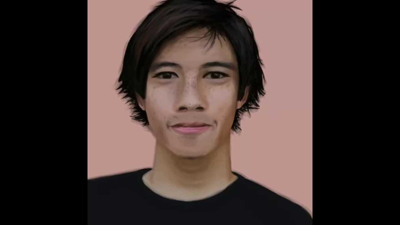 Christopher Chann iPad finger paint speed art - YouTube