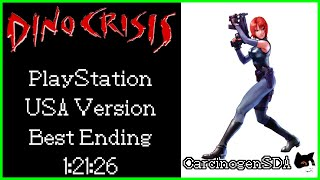 Dino Crisis (PSX) Speedrun - Best Ending (100%) - 1:21:26 [Commentated]