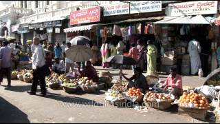 Fruit vendors on streets of Mysore, Karnataka