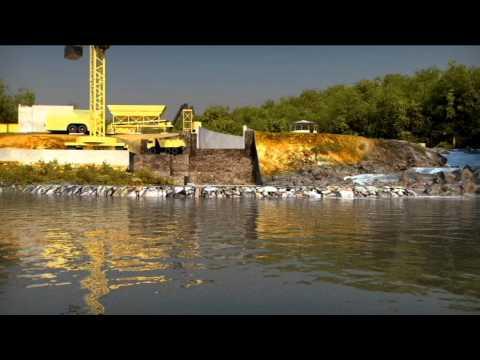 Hydro Power Plant LAC, Liberia - construction procedure animation
