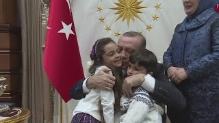 Tweeting seven-year-old Aleppo girl meets Erdogan