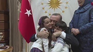 Tweeting seven-year-old Aleppo girl meets Erdogan