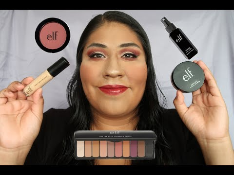 Full Face Using Only E.l.f. Makeup || One Brand Tutorial || Elf Cosmetics