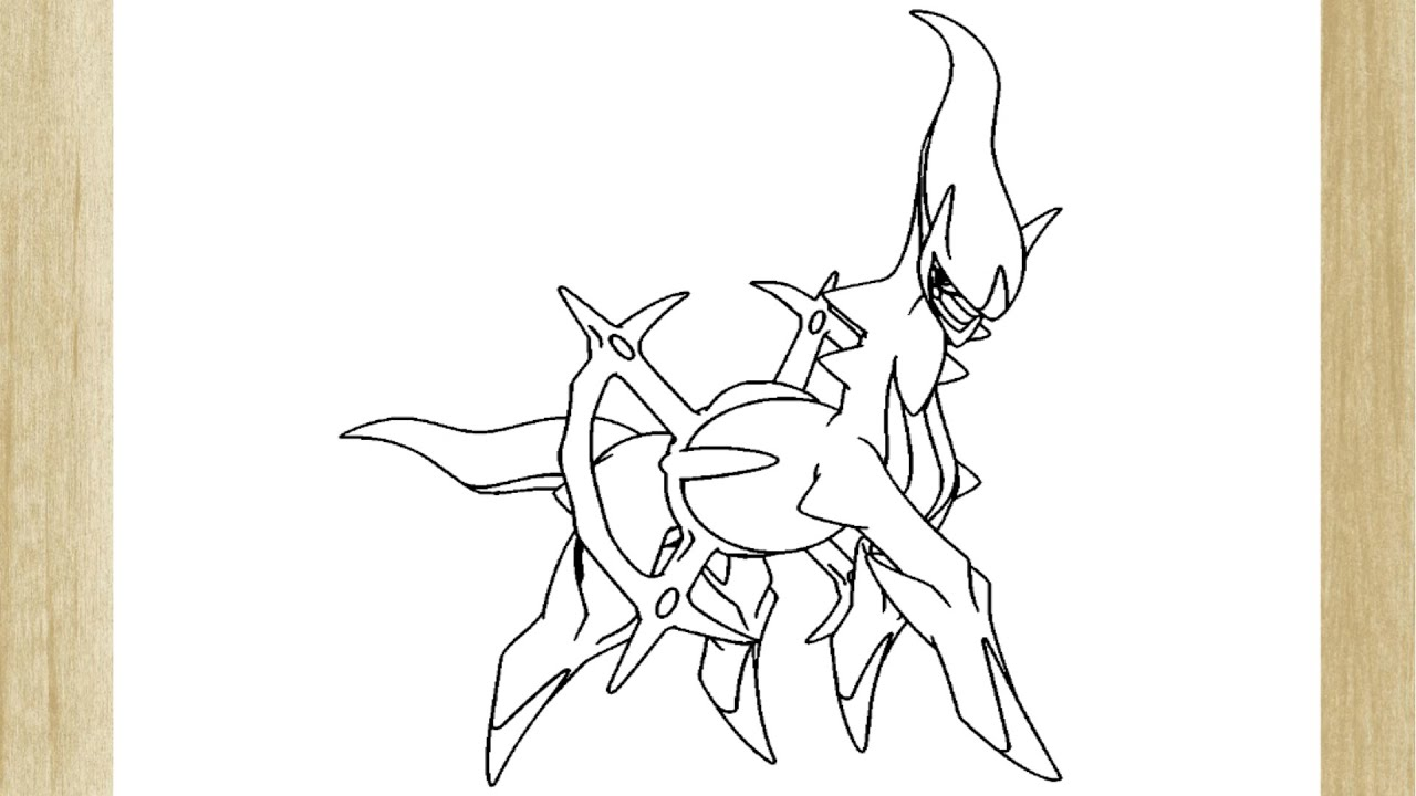Como Desenhar O Pokemon Arceus How To Draw Arceus Pokemon