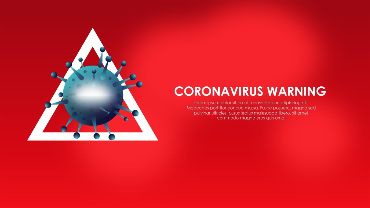 Corona virus PowerPoint template COVID 19