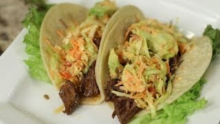 Shredded Beef Tacos With Avocado Slaw By Rockin Robin