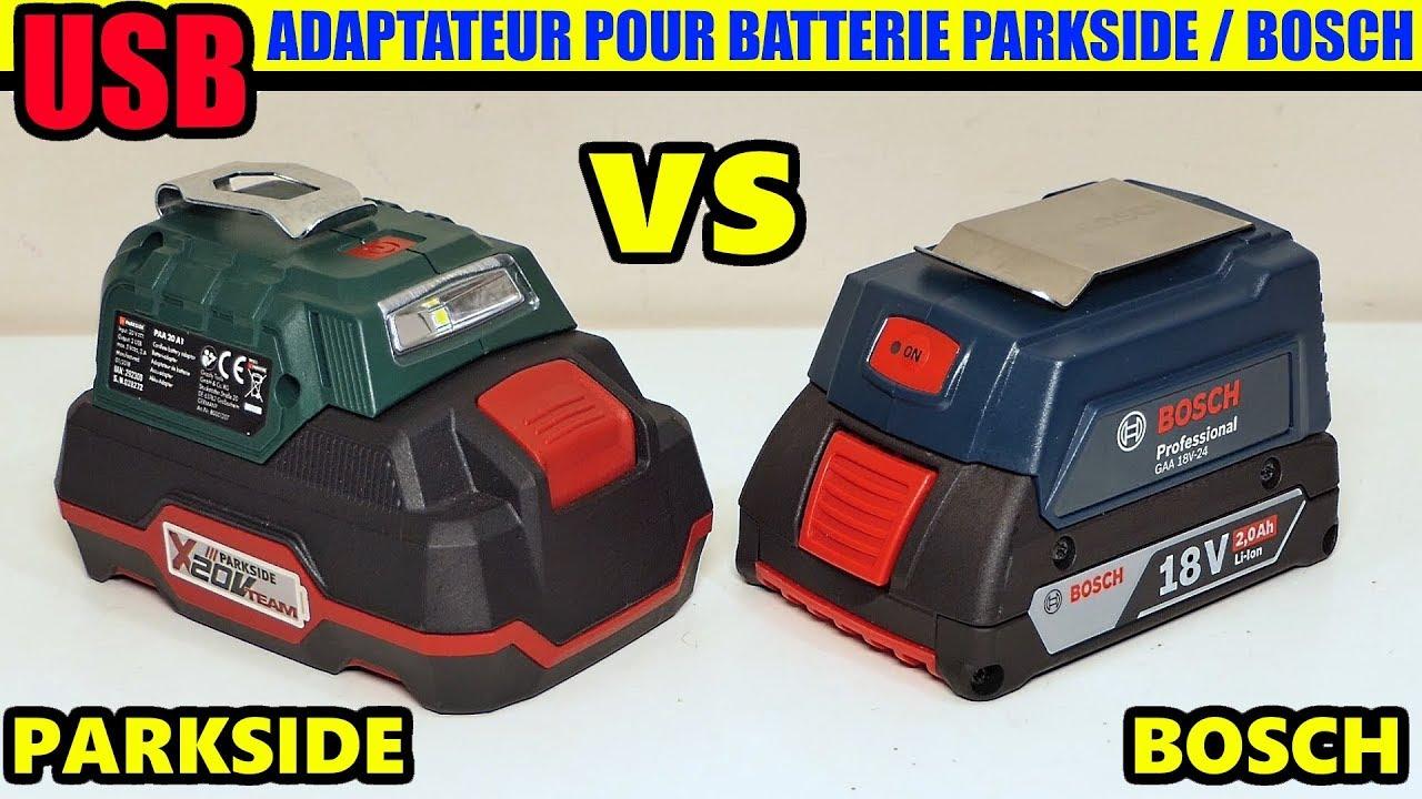 adaptateur usb pour batterie parkside bosch cordless