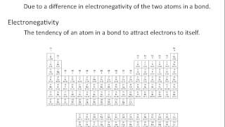 Electronegativity and Bond Polarity - Chemistry Tutorial