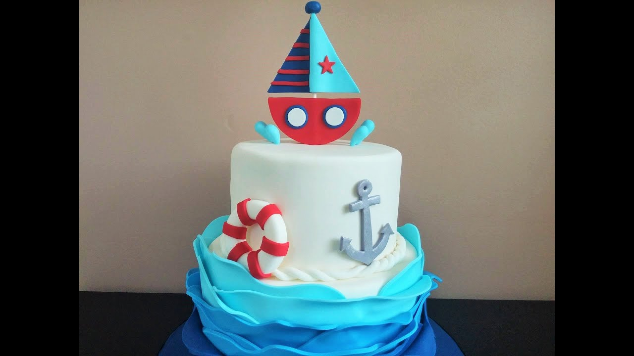 Nautical Themed Cake Tutorial Youtube