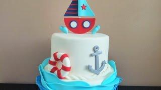 Nautical Themed Cake Tutorial