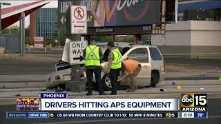 APS says distracted drivers are causing more power outages in the Valley