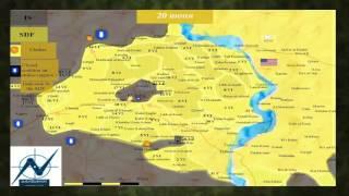 Наступление курдов и СДА на Манбидж и ССА и ВС Турции на севере Сирии 2016г.