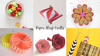 6 Easy Paper Strip Crafts   Paper Crafts Ideas   Do It Yourself