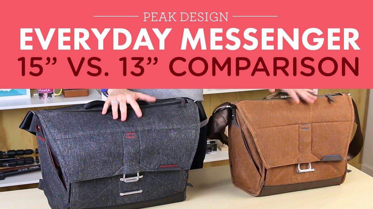 dcc144cb8e41 Peak Design Everyday Messenger Bag 13in vs. 15in. - YouTube
