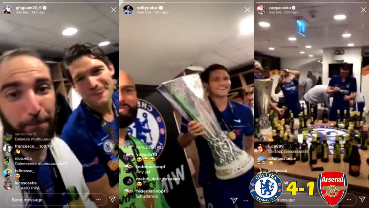 Chelsea Changing Room Celebration Vs Arsenal 4-1 Europa League Final 2019