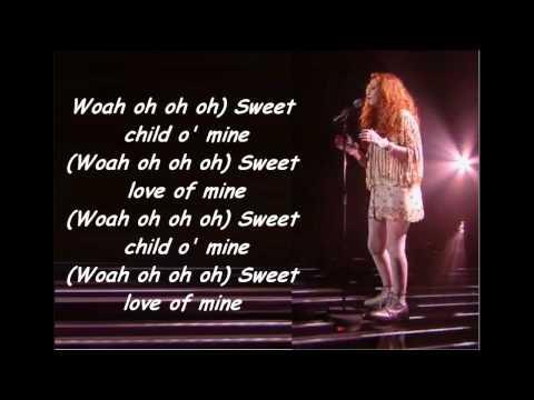 Janet Devlin - Sweet Child Of Mine (With Lyrics) Live Show 3