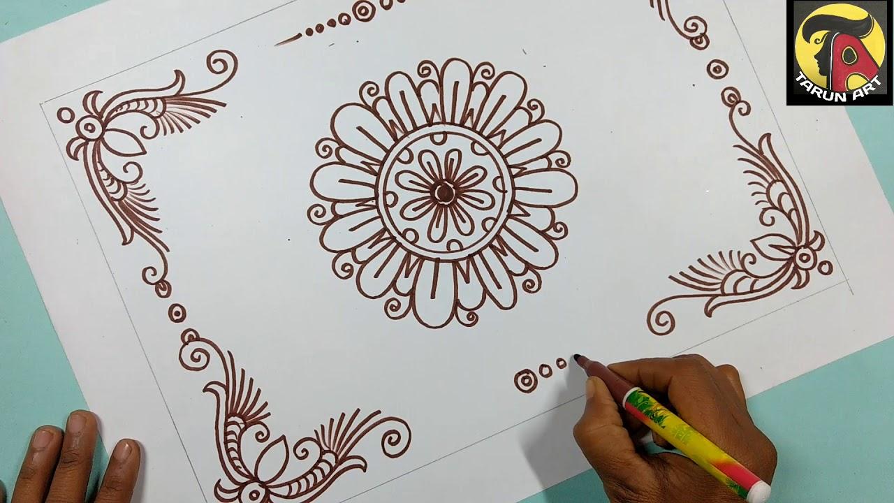 Very Easy Nakshi Katha Design Table Cloth Tarun Art