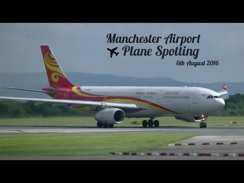 Manchester Airport Plane Spotting - 6th August 2016