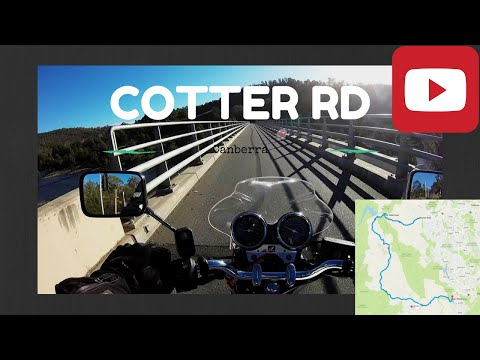 Riding Cotter Rd, Canberra on Honda CB400 Super Four