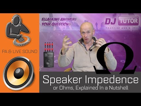 Speaker Impedance, or Ohms, Explained in a nutshell