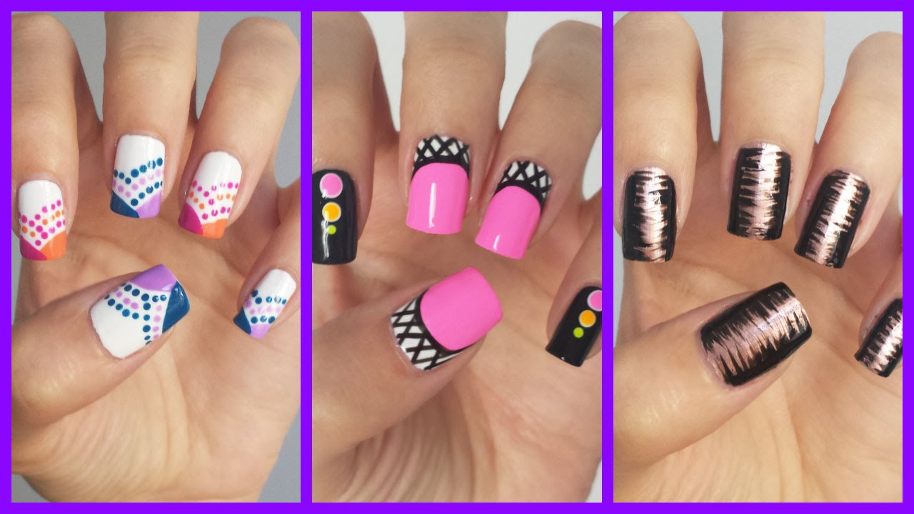 Easy nail art for beginners 15 jennyclairefox youtube prinsesfo Image collections