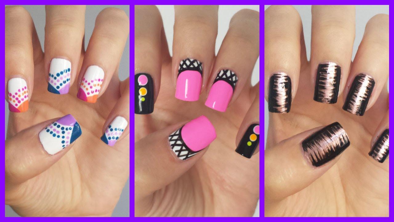 Easy Nail Art For Beginners!!! #15 | MissJenFABULOUS - YouTube