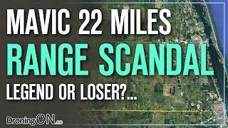 Dangerous Flying DJI Mavic 22 Miles/36km WHILE DRIVING - Drone Range Tests thumbnail