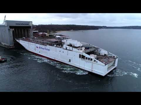 Brittany Ferries Honfleur takes to the Baltic