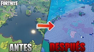 WE COVER ALL BALSA BUTTON (THE LAKE) OF FORTNITE WITH PYRAMIDS *PRIVATE PARTIES* 🔥DollarGames🔥
