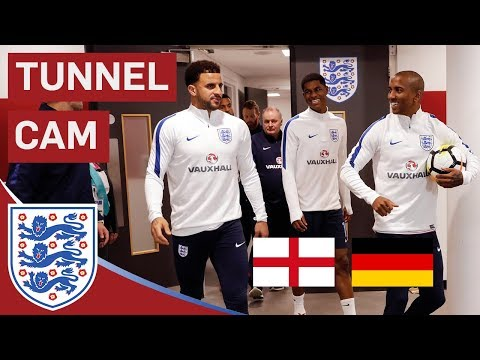 Abraham, Pickford and Loftus-Cheek Debuts | England v Germany | Tunnel Cam