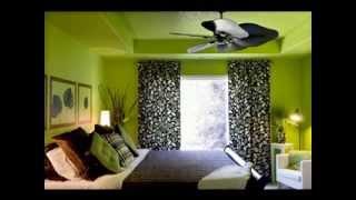 DIY lime green bedroom design decorating ideas