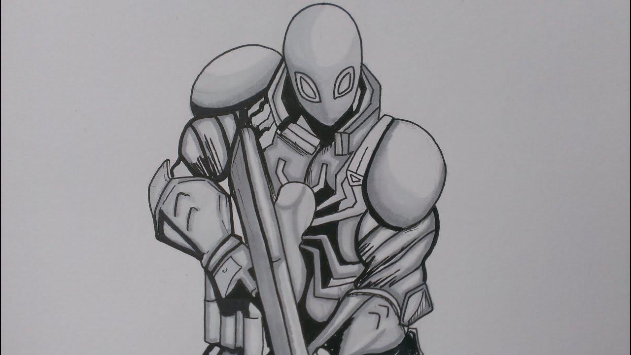 drawing agent venom  marvel comics