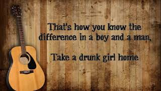 Chris Janson - Drunk Girl Lyrics Video