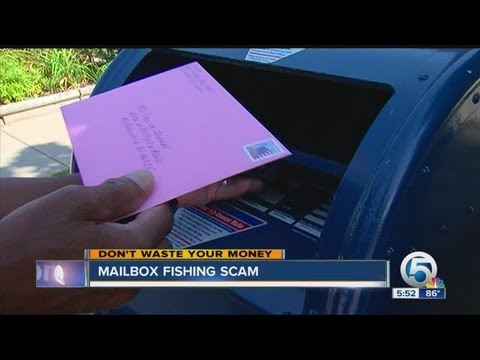 Mailbox fishing scam