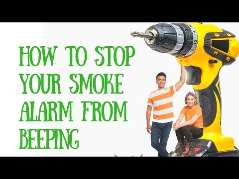 how to stop your smoke alarm from beeping and change the battery - youtube