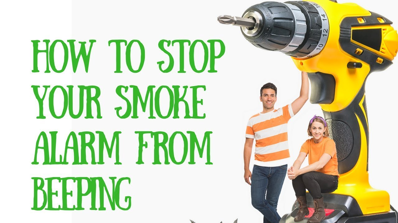 how to stop your smoke alarm from beeping and change the battery