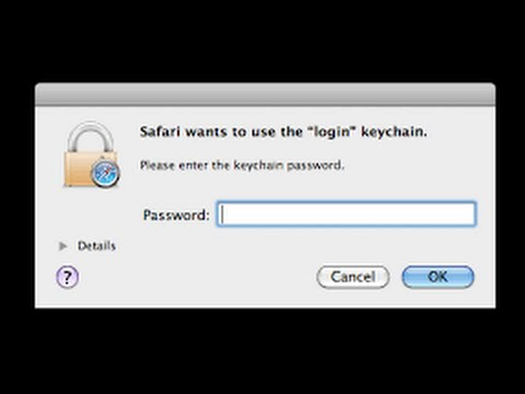 login keychain could not be found