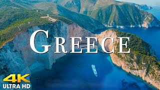 FLY NG OVER GREECE 4K UHD Amazing Beautiful Nature Scenery With Relaxing Music 4K V DEO ULTRA HD