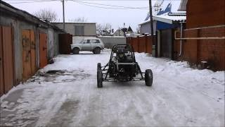Самодельная багги из Оки. Готовность 85%. Тест-драйв (Home made buggy 85% done. Test drive)