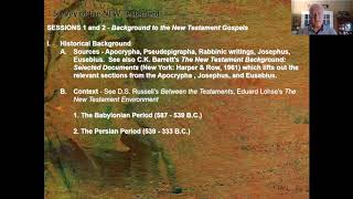 New Testament Survey - Session 1