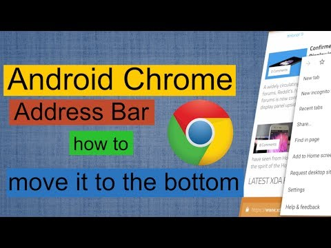 Android Chrome address bar - how to move it to the bottom